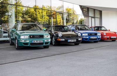 Audi RS2 Avant y Porsche 911
