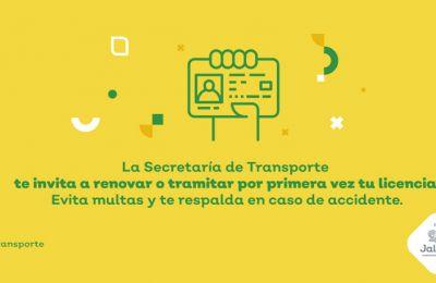 Invita Gobierno De Jalisco A Contar Con Licencia De Conducir