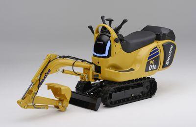 Prototipo. Komatsu micro excavadora PC01 alimentado por Honda Mobile Power Pack