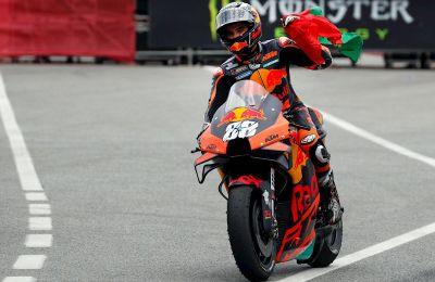 El piloto portugués de MotoGP, Miguel Oliveira.