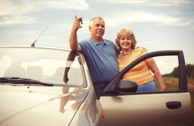 Automóvil, pareja