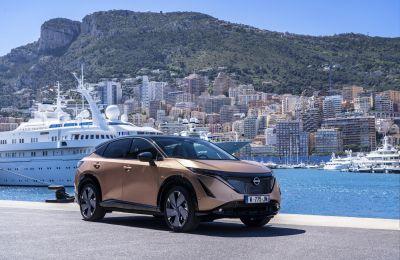 Nissan Ariya debuta en la vía pública por las calles de Mónaco.